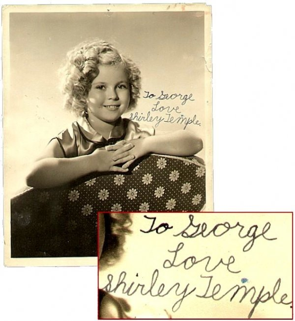 19: Shirley Temple Signed Photo Child George Hurrell Au