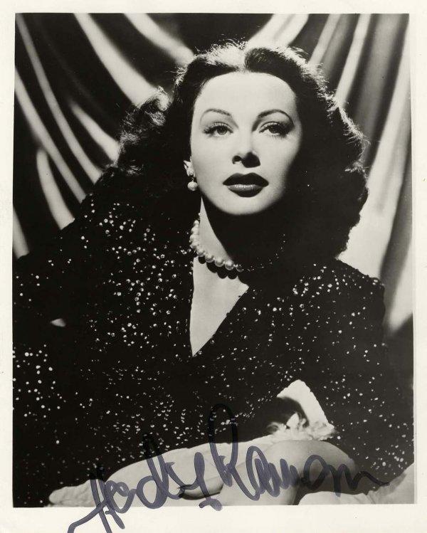 159: Hedy Lamarr Signed Photograph Autograph Signature