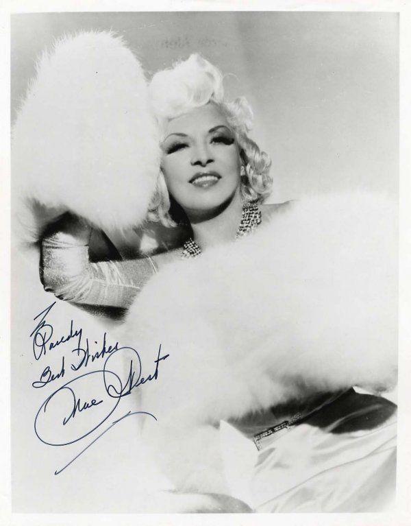 161: Mae West Signed Inscribed Photo Signature Autograp