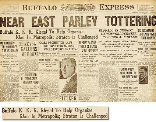 495: Buffalo Express Newspaper Ku Klux Klan KKK - May 29
