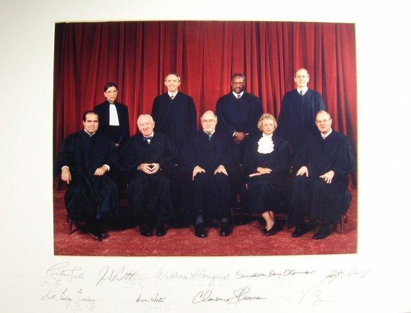 500: Rehnquist US Supreme Court  Signed Photo Autograph