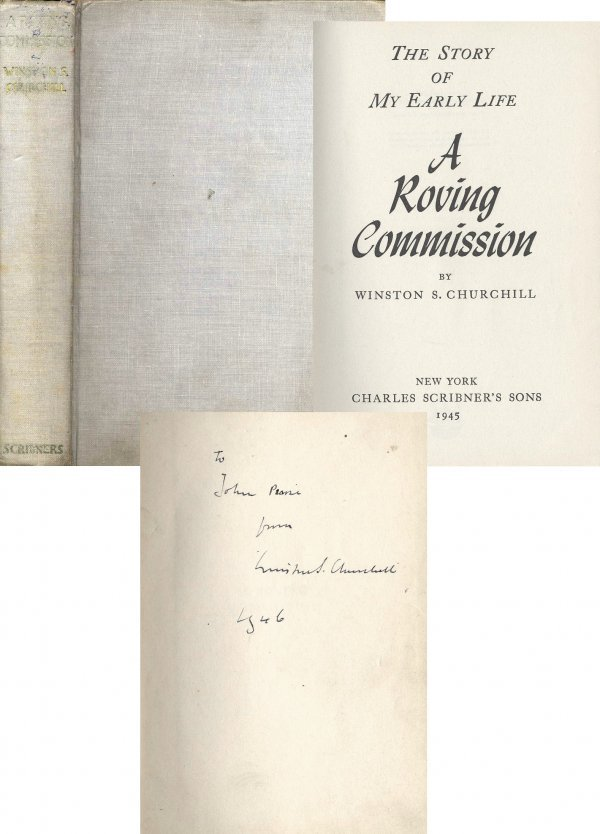501: Signed Winston Churchill Autograph Roving Commissi