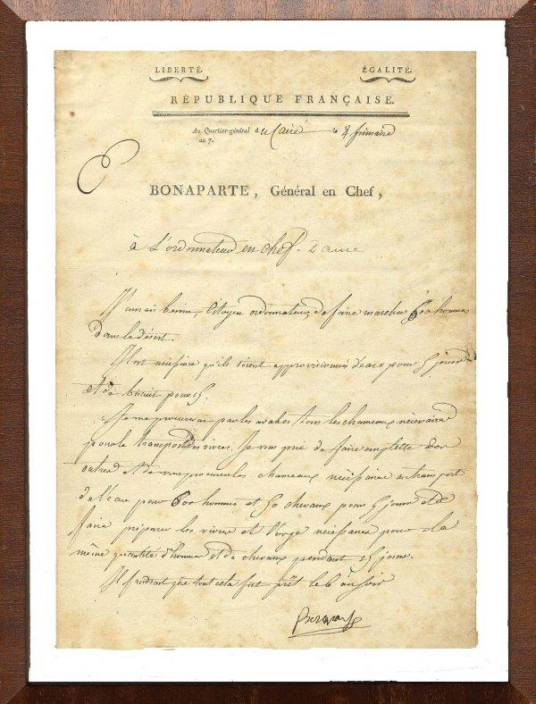 503: Napoleon Bonaparte Document Signed Campaign Autogr