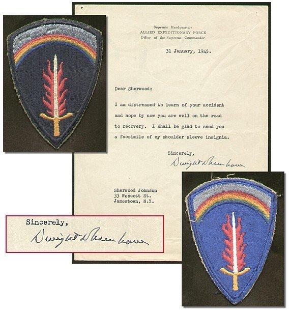 514: Signed Dwight D. Eisenhower Typed Letter TLS Autog