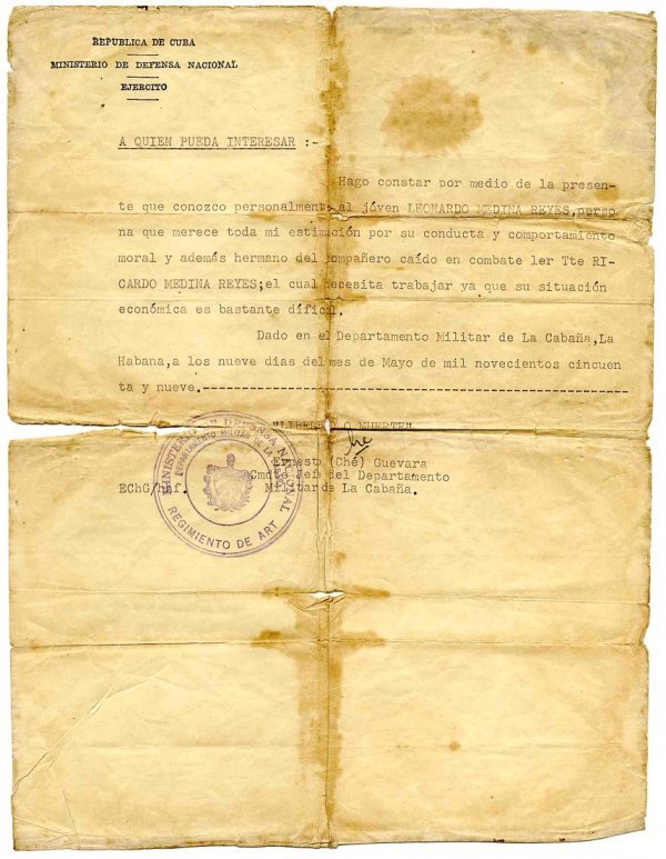 515: Typed Letter Signed Ernesto Che Guevara TLS Signat