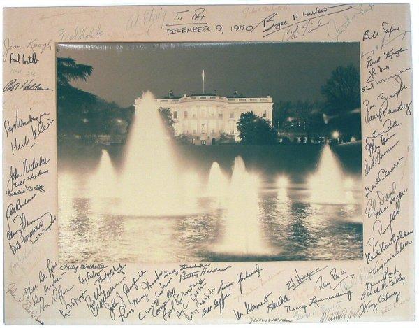 516: Nixon Autographed Photo Pat Moynihan Signatures