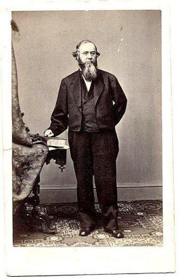 587: Mathew Brady CDV Edwin M. Stanton Photo