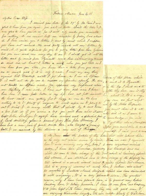 996: Civil War ALS Signature Soldier Letter Signed Mass