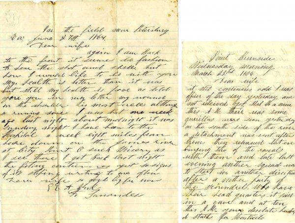 1001: Civil War ALS Soldier Letter Signed Petersburg Je