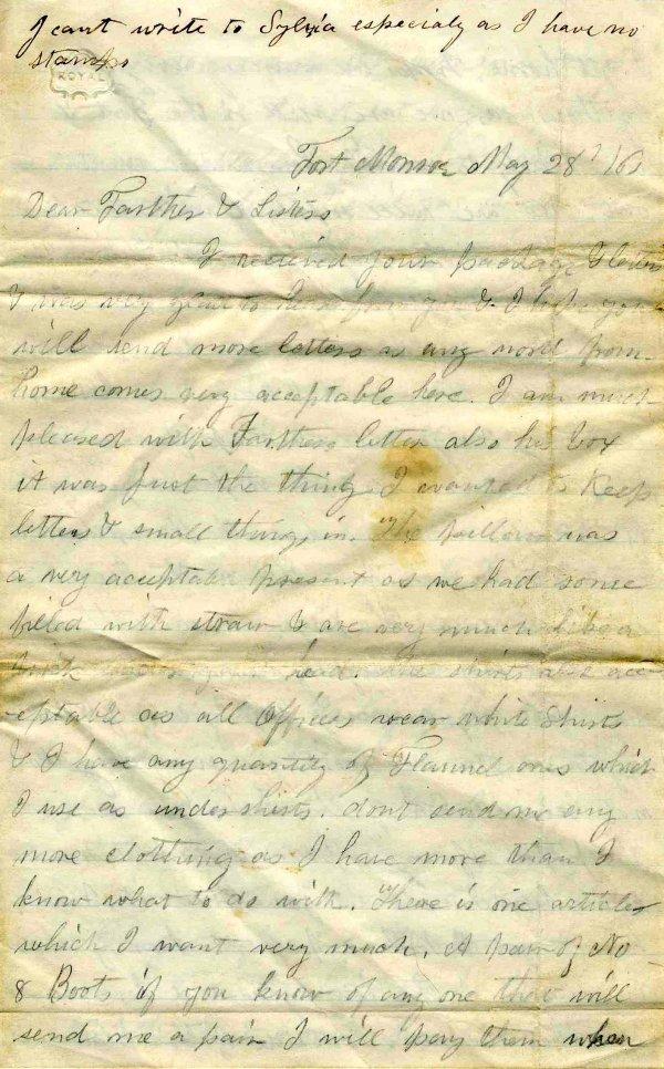 1003: Civil War ALS Soldier Letter Signed Massachusetts