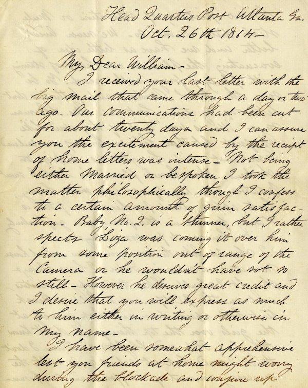 1005: Civil War ALS Soldier Letter Signed Fox Massachus