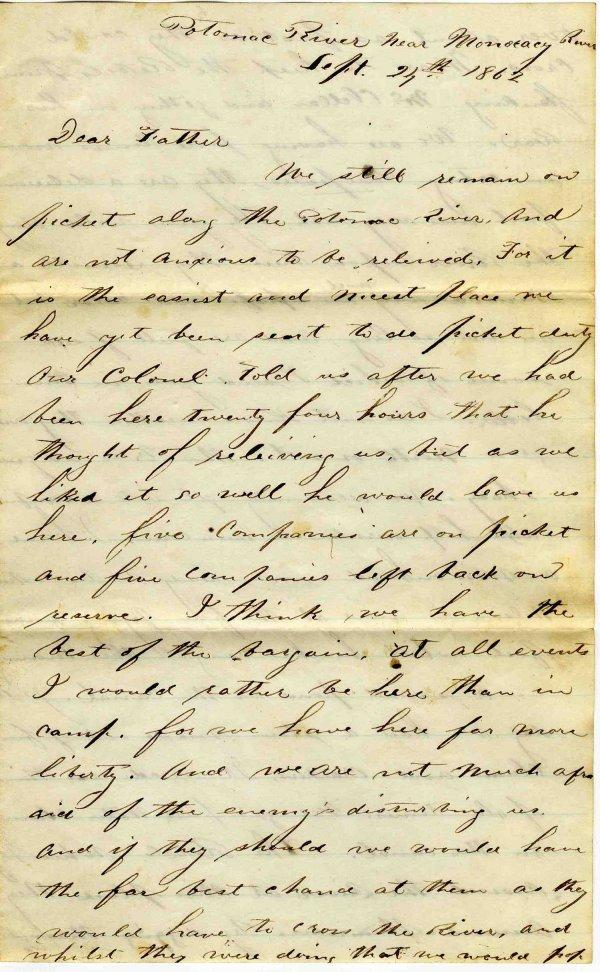 1010: Civil War ALS Soldier Letter Signed Sproul New Yo