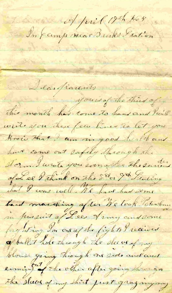 1011: Civil War ALS Soldier Letter Signed Mowry Infantr