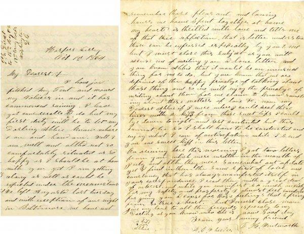 1014: Civil War ALS Soldier Letter Signed Wentworth ME