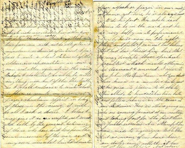 1016: Civil War ALS Soldier Letter Signed Abbott Unionv