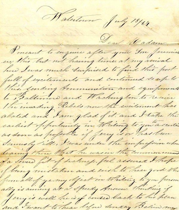 1017: Civil War ALS Soldier Letter Signed Ryan New York