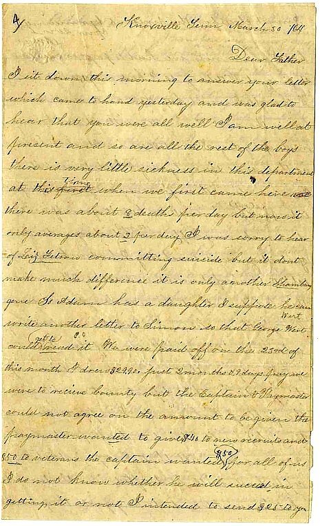 1314: Civil War Soldier Letter Signed ALS Ohio