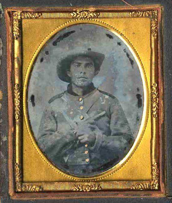 1804: Civil War Ambrotype Confederate Soldier Photo
