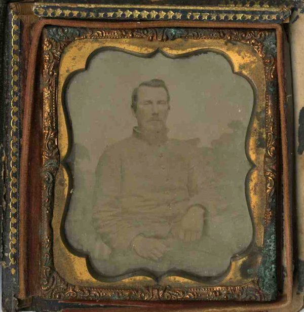 1805: Civil War Ambrotype Confederate Photo Pic