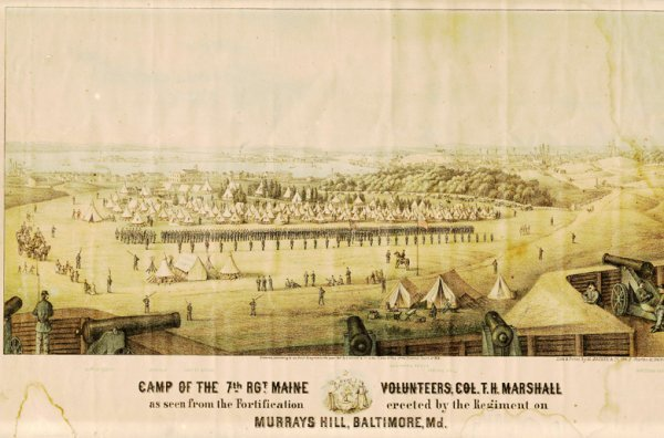 1807: Civil War Lithograph Murray Hill Photograph