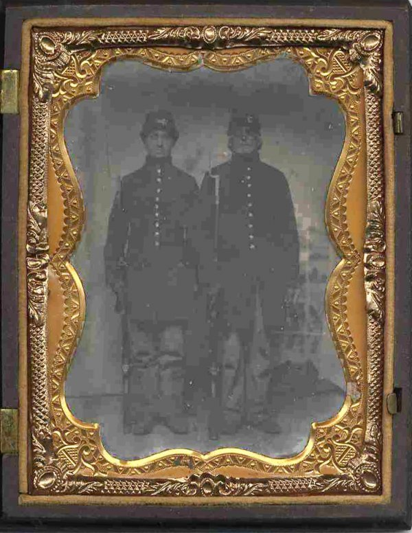 1808: Civil War Tintype Soldier Artillery Photograph