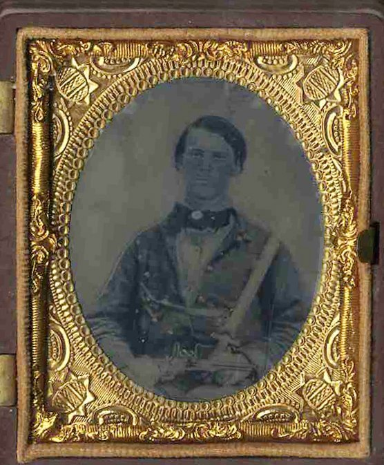 1811: Civil War Tintype Soldier Colt Pistol Photo Pic