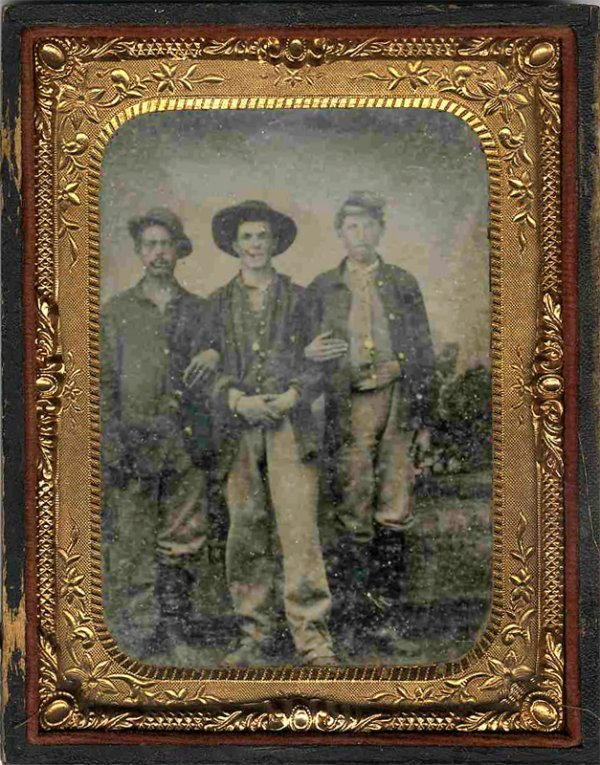 1814: Civil War Tintype Soldiers Photograph Photo