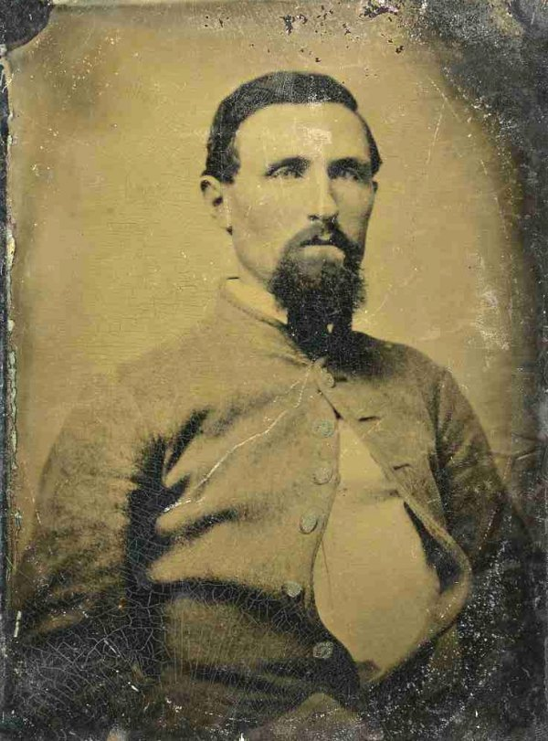 1821: Civil War Tintype Confederate Soldier Photograph