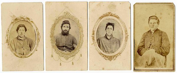 1825: Civil War CDV Group Soldiers Photograph Pic