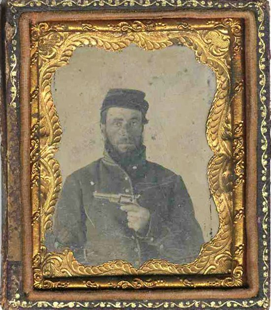 1826: Civil War Tintype Cavalry Soldier Photograph