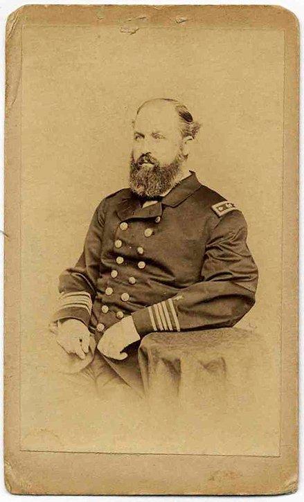 2348: Civil War CDV Naval Officer Photograph Pic