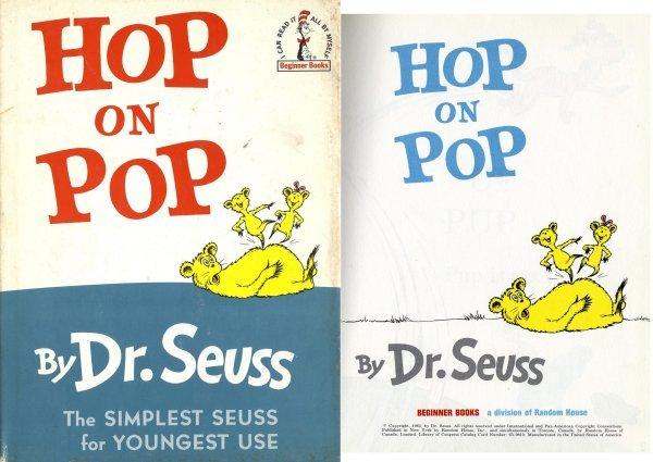 196: Hop on Pop Dr. Seuss Rare 1963 First Edition Book