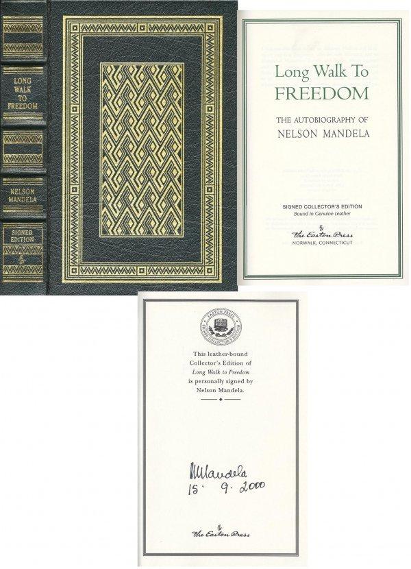 479: Nelson Mandela Signed Collectors Edition Autobiogr