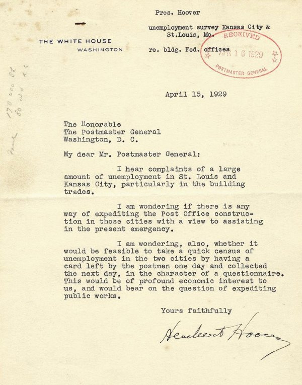 483: Herbert Hoover Typed Letter Signed Autograph