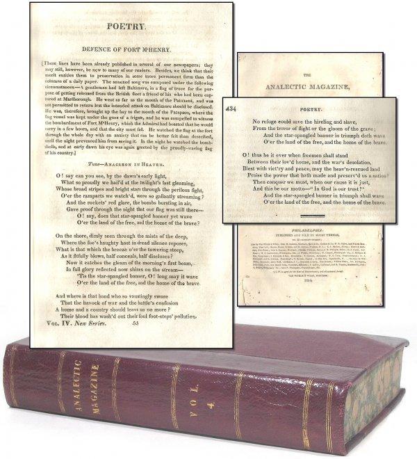 490: First Printing McHenry Francis Scott Star Spangled