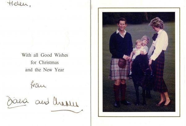 Princess Diana Prince Charles Signed Autograph Car