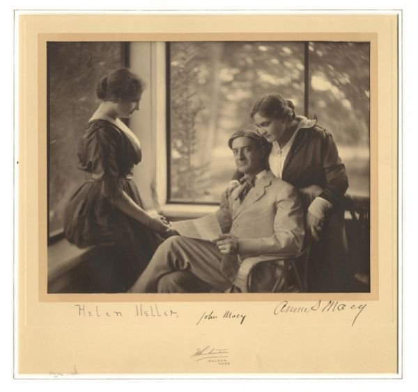 942: Photo Signed Autograph Helen Keller Anne Sullivan