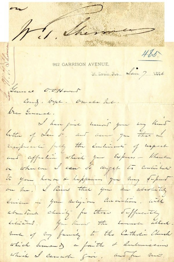 979: William Sherman Autographed Letter Signed ALS