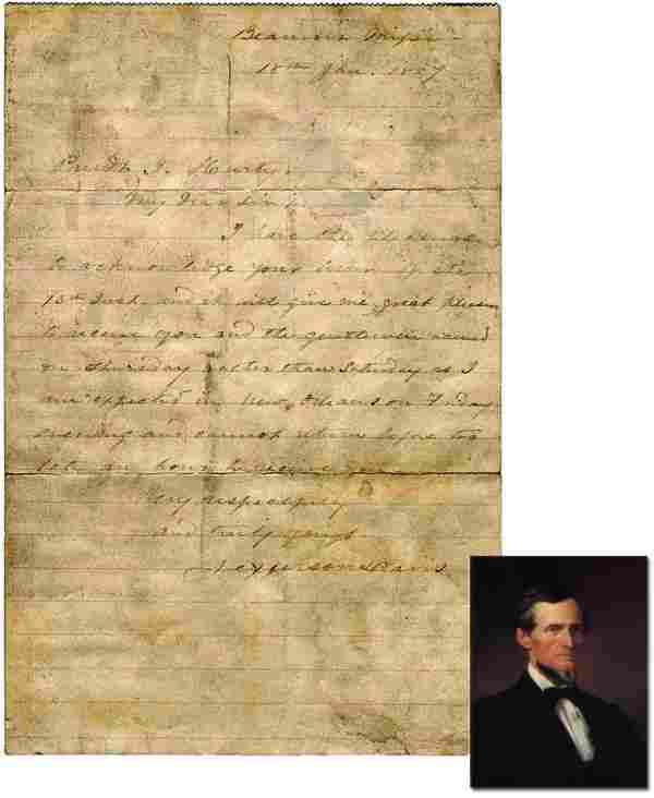 Jefferson Davis Autographed Letter Signed ALS