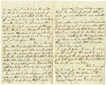 1295: Civil War Soldier Letter Signed ALS Presidential