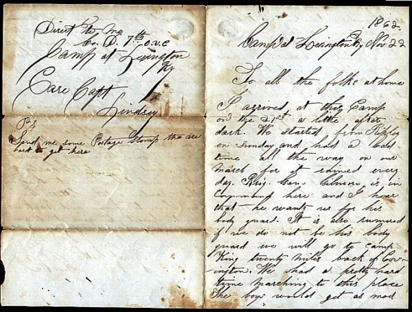 1403: Civil War Soldier Letter Signed OH Sign ALS