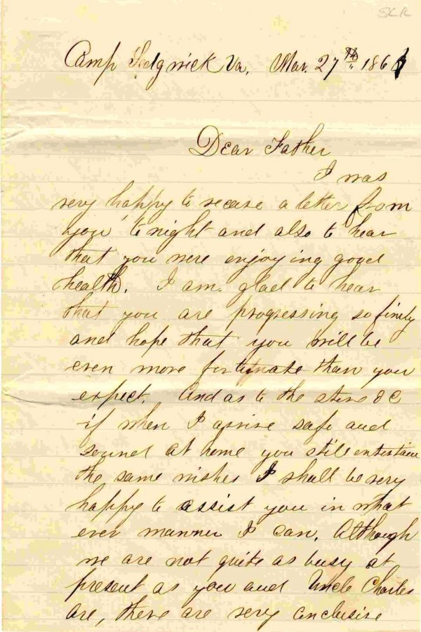 1408: Civil War Soldier Letter Signed ALS Lee Grant