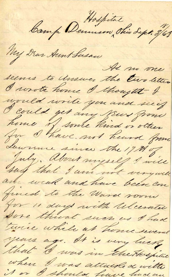 1411: Civil War Soldier Letter Signed ALS Massachusetts