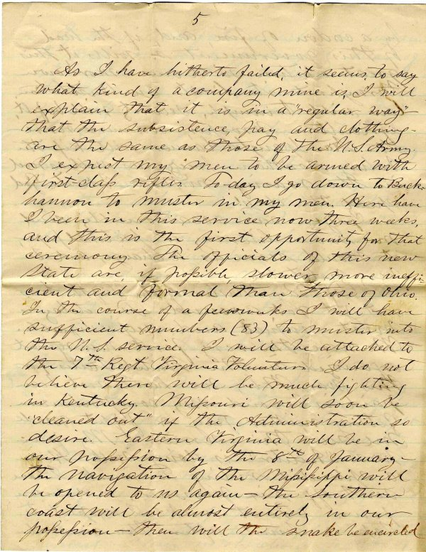 1412: Civil War Soldier Letter Signed ALS VA Infantry