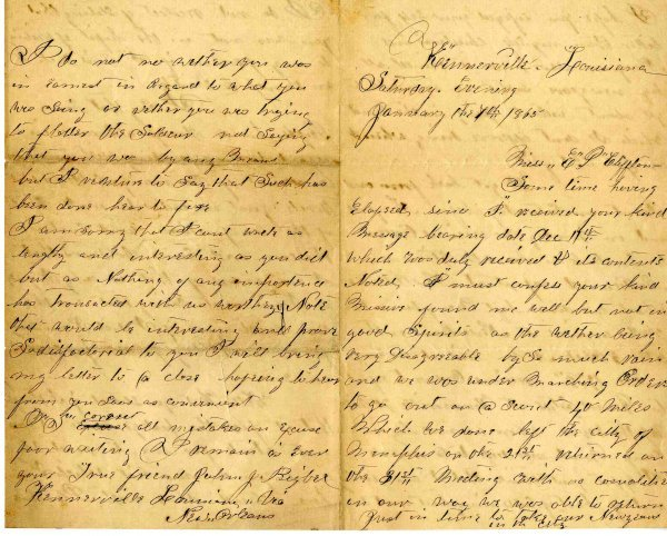 1414: Civil War Soldier Letter Signed ALS Holiday Seaso