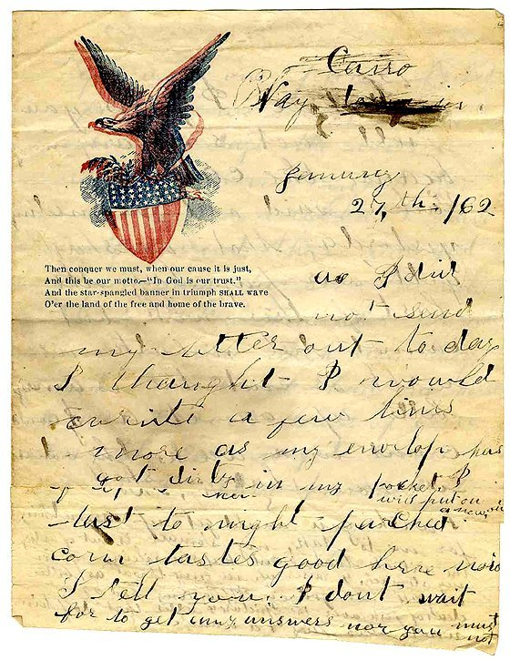 1416: Civil War Soldier Letter Signed ALS