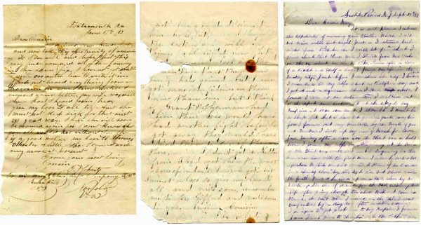 1417: Civil War Soldier Letter Signed Lot ALS