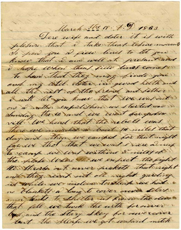 1421: Civil War Soldier Letter Signed ALS George Morris