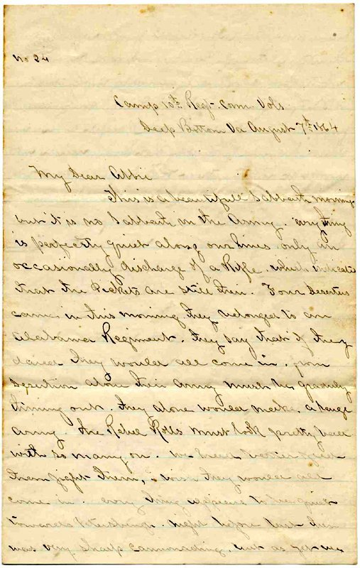 1423: Civil War Soldier Letter Signed 10th CT ALS