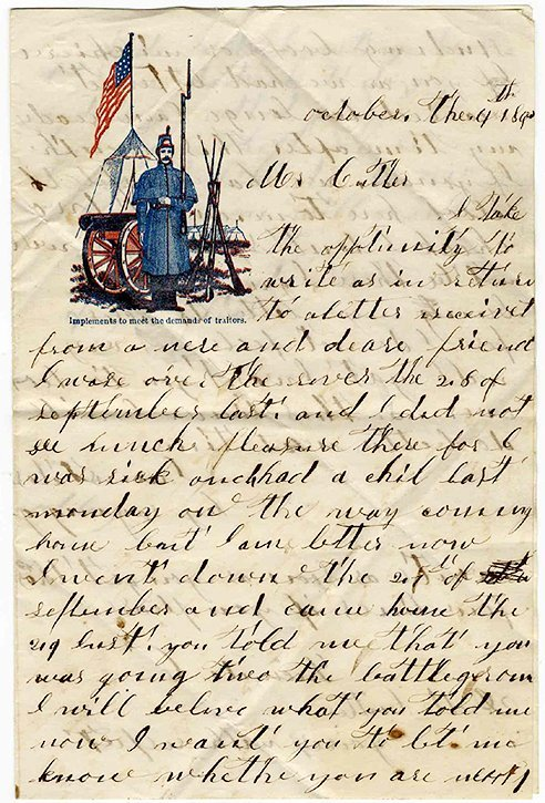1424: Civil War Soldier Letter Signed ALS